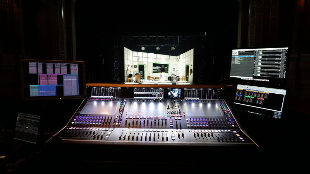 Million Dollar Quartet from behind Digico SD7T Mixing Console